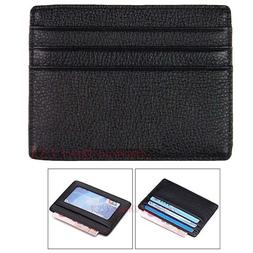 Mens Leather Wallet Money Credit Card ID Holder Front Pocket