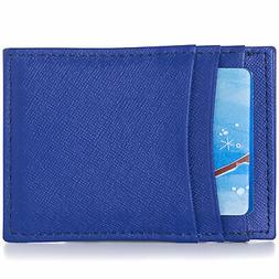 Alpine Swiss Mens Money Clip Thin Front Pocket Wallet Genuin