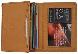 AG Wallets Mens Premium Leather Business and Credit Card Hol