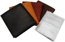 AG Wallets Mens Premium Leather Slim Hipster Bifold Wallet W