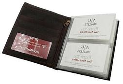 AG Wallets Mens RFID Hipster Bifold Leather Wallet 2 ID 10 C