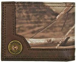 Realtree Mens RFID Secure Passcase CAMO Leather Wallet ~ Bra