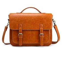 ECOSUSI Messenger Bag PU Leather Laptop Briefcase 14 inch Co