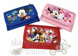 Disney Mickey Mouse & Minnie Tri-Fold Wallet Coin Purse For