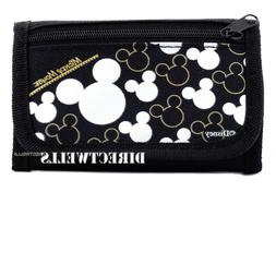 Disney Mickey Mouse Authentic Licensed Trifold Black Silver