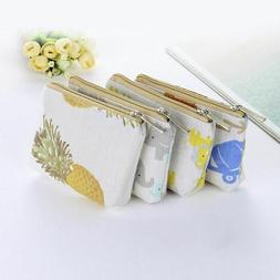 Mini Wallets Zippers Kids For Women Canvas Purse Coin Money