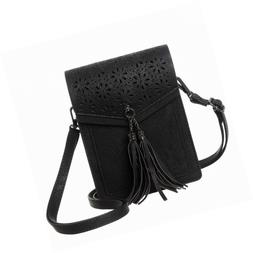 MINICAT Fringe Thicher Pocket Crossbody Cell Phone Purse Wal
