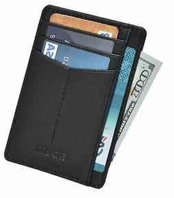 Minimalist Wallet for Men and Women - Genuine Leather RFID S