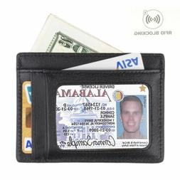 Minimalist Wallet RFID Front Pocket Wallet Secure Thin Credi
