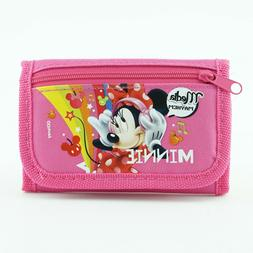 Disney Minnie Mouse Wallet for Girls Toddlers Trifold Coin Z