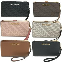Michael Kors MK Jet Set Travel Double Zip Phone Wristlet Wal