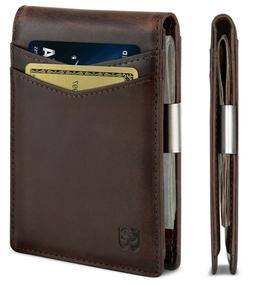 SERMAN BRANDS Money Clip Wallet - Mens Wallets Slim Front Po