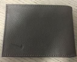 New!!! Nike Bifold Men's Leather Wallet Dark Brown