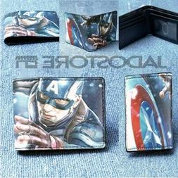 NEW Captain America Bifold Case Wallet for Young Men and Wom