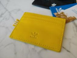 NEW Adidas CD7991 Originals Card Holder Mini Wallet yellow l