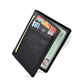 new genuine leather slim card holder wallets