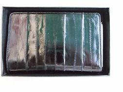 NEW Liberty Eel Skin Checkbook Cover With Pen Holder Black N