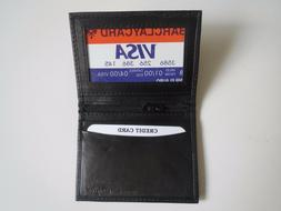 New Men's Genuine Leather Bifold ID Credit Card Money Holder