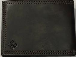 New Columbia Men's Leather Billfold Wallet Brown Color $14.5