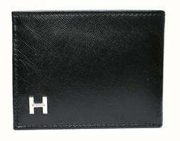 New Tommy Hilfiger Men's Pebble Leather Billfold Passcase &