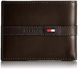 New Tommy Hilfiger Men's Ranger Leather Passcase Bifold Wall