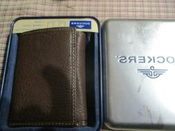 """NEW MEN'S WALLET--100% LEATHER --TRI FOLD--MADE BY """"DOCKERS"""""""