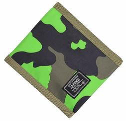 Jeminal New Mens And Boys Camo Canvas Wallets Purse With Zip