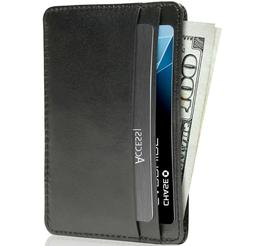 New Real Leather Slim Card Holder Wallets For Men & Women RF