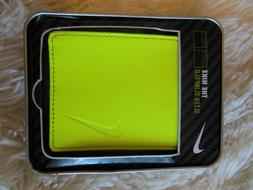 new sleek slimfold wallet leather volt yellow