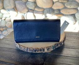 New with Tags, Fossil Logan RFID Flap Wallet in Black