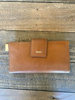 New with Tags, Fossil Logan RFID Tab Wallet in Brown