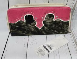 new women s pink camo clutch long