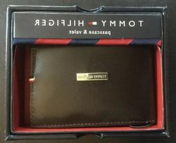NIB Genuine Tommy Hilfiger Men's BROWN Leather Passcase and