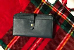 NWOT FOSSIL Green Leather WEEKENDER CHECKBOOK Bifold Clutch