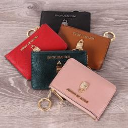 NWT Michael Kors ADELE Small Top Zip Coinpouch W/ ID  Keyrin