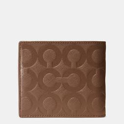 NWT Coach Bleecker Coin Wallet in Op Art Embossed Leather 74
