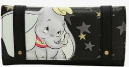 NWT Disney Loungefly Dumbo Black Star Wallet