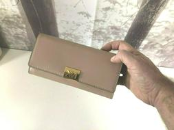 NWT MICHAEL KORS MINDY POLISHED LEATHER CARRYALL WALLET IN F