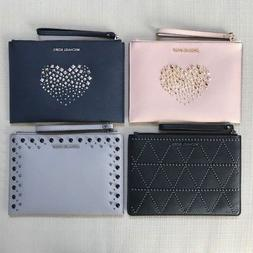 NWT Michael Kors Saffiano Leather Clutch Wristlet Various Co