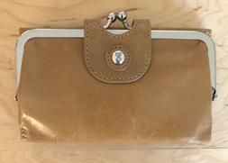 Nwt Women's Hobo International Leather Wallet, Alice, Carame