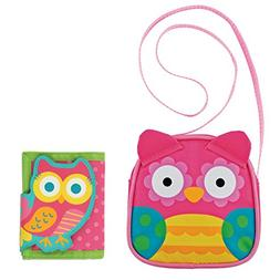 Stephen Joseph Owl Crossbody Purse and Owl Wallet Combo - Li