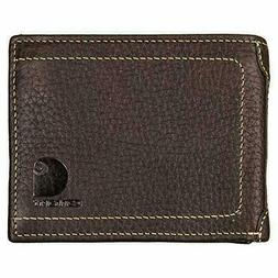 New CARHARTT Passcase Bifold Wallet Brown Full Grain Leather