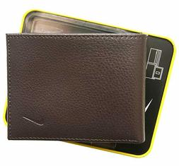 Nike Men's Passcase Leather Wallet with Leave-in License Win