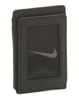 Nike Pebble Leather Wallet Magnetic Closure NIB brand logo a