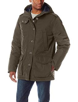 Tommy Hilfiger Men's Poly Twill Full Length Hooded Parka, Ar