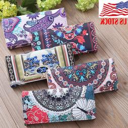 PU Leather Wallets For Women Floral Accordion Ladies Wallet