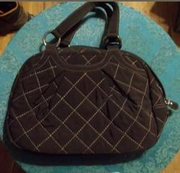 VERA BRADLEY QUILTED BROWN PURSE AND VERA BRADLEY MATCHING W