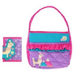 Stephen Joseph Girls Quilted Llama Purse and Wallet