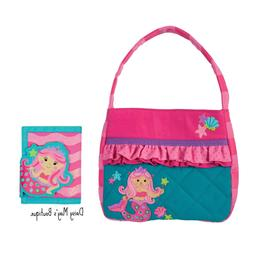 Stephen Joseph Quilted Mermaid Purse and Wallet for Girls -