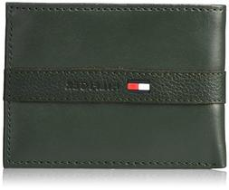 16pc Tommy Hilfiger Ranger Olive Green Leather Passcase Bill